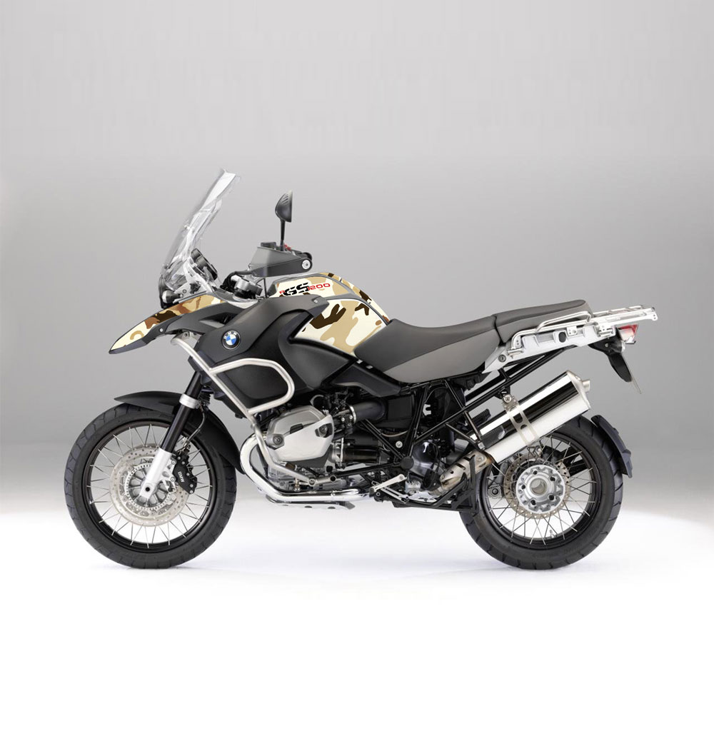 bmw r 1200 gs adv 04 07 camo desert effetti adventure bmw gs graphics stickers. Black Bedroom Furniture Sets. Home Design Ideas