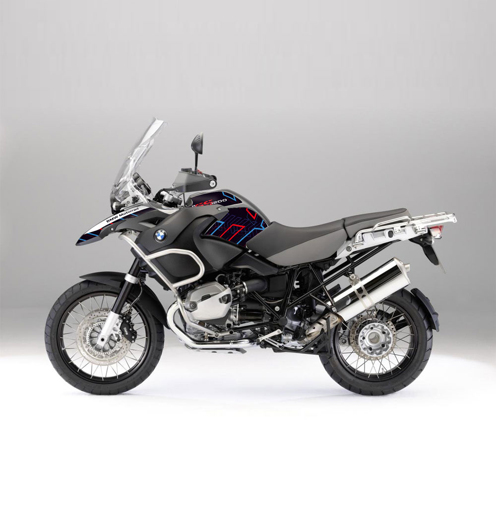 bmw r 1200 gs adv 04 07 arrow effetti adventure bmw gs graphics stickers decals. Black Bedroom Furniture Sets. Home Design Ideas